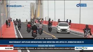 Jembatan Musi IV Palembang Diuji Coba