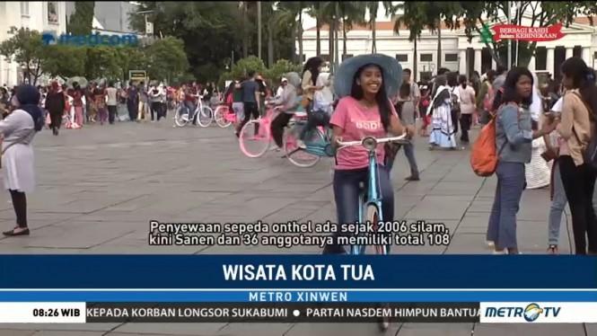 Libur Akhir Tahun, Sepeda Onthel Sewaan Laris Diburu Pengunjung