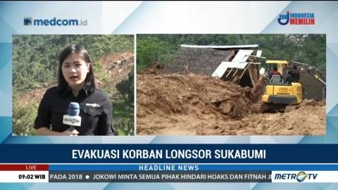 Alat Berat Ditambah untuk Cari 15 Korban Longsor Sukabumi