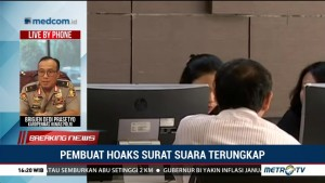 Dua Penyebar Hoaks Surat Suara Diamankan di Bogor dan Balikpapan