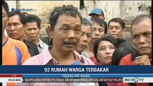 92 Rumah Pemukiman Padat Penduduk di Jelambar Hangus Terbakar