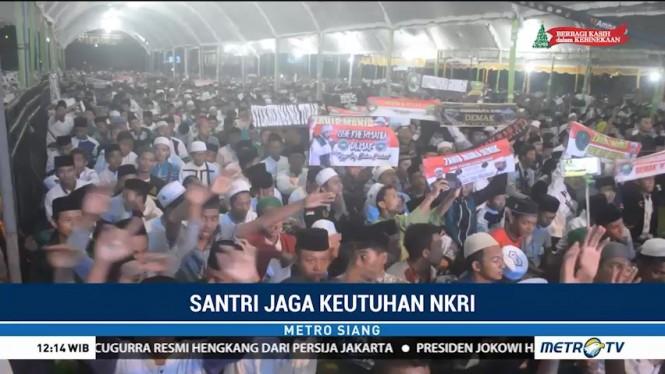 Jaga NKRI, Ribuan Santri di Jepara Gelar Doa dan Selawat Bersama