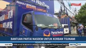 Bantuan Partai NasDem untuk Korban Tsunami Selat Sunda