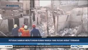Puluhan Rumah Korban Kebakaran di Jelambar Diruntuhkan
