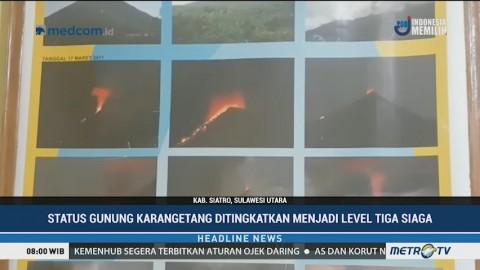 Gunung Karangetang Berstatus Siaga