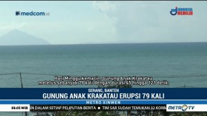 Gunung Anak Krakatau 79 Kali Erupsi