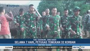 Pencarian Korban Longsor Sukabumi Dihentikan, Tim SAR Ditarik