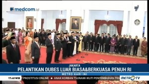 Jokowi Lantik 16 Dubes Baru