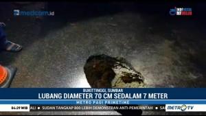 Jalan Penghubung Padang-Bukittinggi Ambles