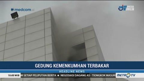 Gedung Sekretariat Jenderal Kemenkumham Terbakar