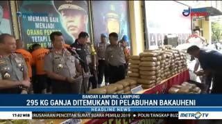Polda Lampung Gagalkan Penyelundupan 60 Kg Sabu & 295 Kg Ganja
