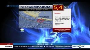 Sukabumi Diguncang Gempa 5,4 SR