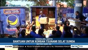 NasDem Serahkan Bantuan Warga Jatim untuk Pandeglang