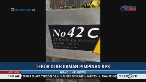 Rumah Ketua dan Wakil Ketua KPK Diteror Bom