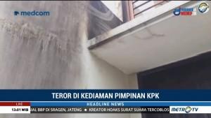 Penampakan Bekas Ledakan Molotov di Rumah Laode