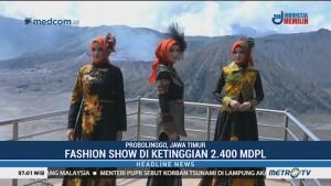 Pemkab Probolinggo Gelar <i>Fashion Show</i> di Gunung Bromo