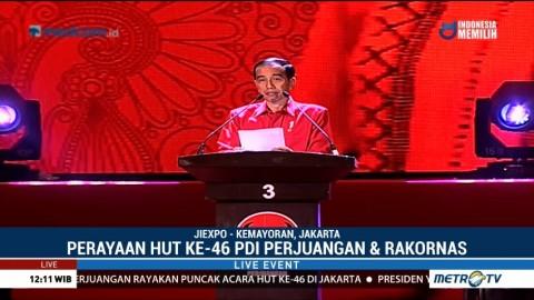 Pidato Presiden Jokowi di HUT PDI Perjuangan ke-46