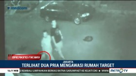 Rekaman CCTV Pelaku Teror Rumah Wakil Ketua KPK