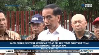 Jokowi: Tindak Tegas Pelaku Teror Terhadap Pimpinan KPK