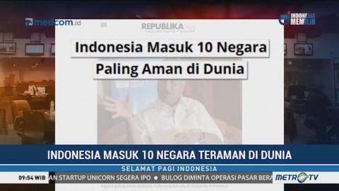 Indonesia Masuk 10 Negara Teraman di Dunia