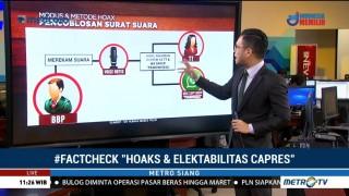 <i>Fact Check</i> Hoaks dan Elektabilitas Capres