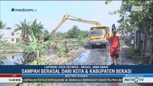 Sekitar 700 Ton Sampah di Kali Pisang Batu Sudah Diangkut