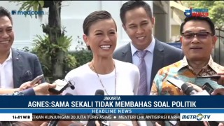 Agnez Mo Bertemu Jokowi Bahas Semangat Generasi Muda