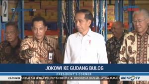 Jokowi Tinjau Gudang Bulog