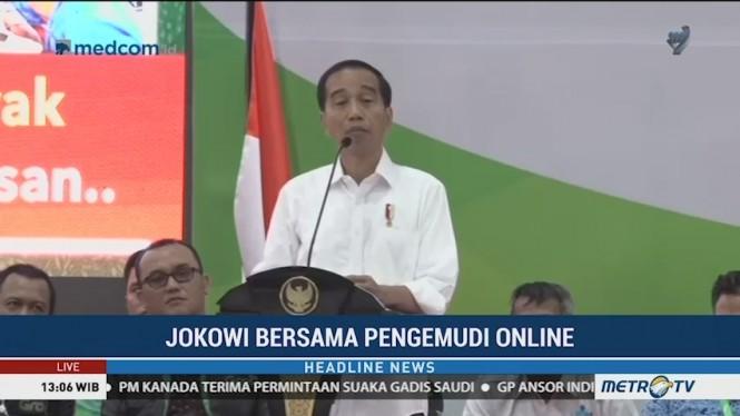 Jokowi Silaturahmi dengan Keluarga Besar Pengemudi Ojek Online