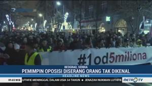 Warga Serbia Gelar Unjuk Rasa Menentang Presiden