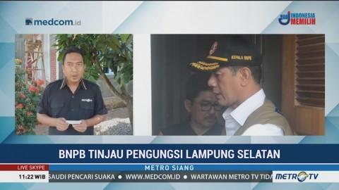Kepala BNPB Tinjau Pengungsi Lampung Selatan