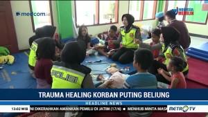Polwan Beri <i>Trauma Healing</i> untuk Anak Korban Puting Beliung Rancaekek