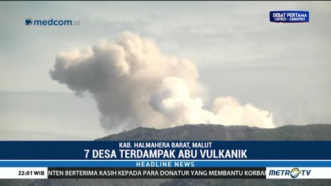 Tujuh Desa Dihujani Abu Vulkanik Gunung Ibu
