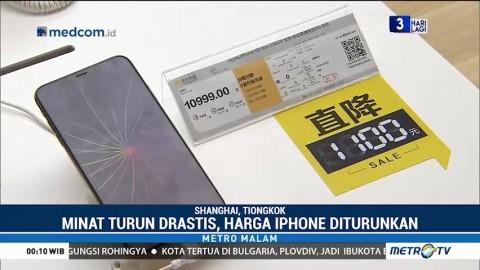 Penjualan iPhone di Tiongkok Menurun Drastis