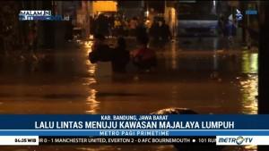Jalan Raya Rancaekek-Majalaya Terendam Banjir