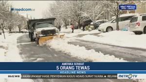 Badai Salju di Amerika Serikat, Lima Orang Tewas