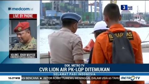 Cockpit Voice Recorder  Lion Air PK-LQP Ditemukan