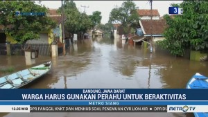 Sungai Citarum Meluap, Tiga Kecamatan di Bandung Terendam Banjir