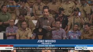 Presiden Jokowi Temui Ribuan Perangkat Desa di Istora Senayan