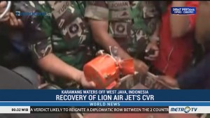 Recovery of Lion Air Jet's CVR