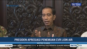 Jokowi Apresiasi Penemuan CVR Lion Air PK-LQP
