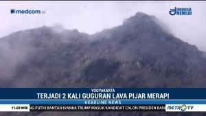 Gunung Merapi Dua Kali Muntahkan Lava Pijar