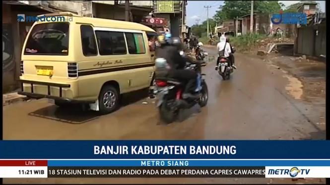 Banjir Surut, Jalan Penghubung Kota dan Kabupaten Bandung Dapat Dilalui