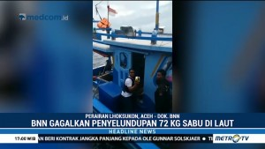 BNN Gagalkan Penyelundupan 72 Kg Sabu yang Dikendalikan Napi