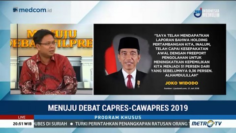 Debat Capres Tidak Akan Pengaruhi Pemilih Loyal