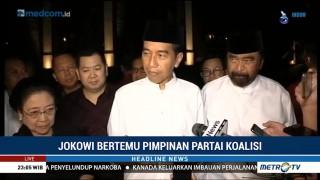 Jokowi Diskusi Debat Perdana Bersama Pimpinan Partai