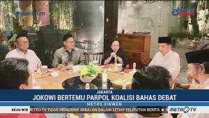 Jokowi Bertemu Ketum Parpol Koalisi untuk Membahas Debat