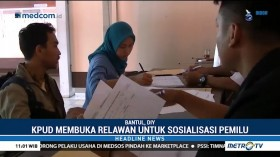 Pendaftaran Relawan Demokrasi di Bantul Disambut Antusias