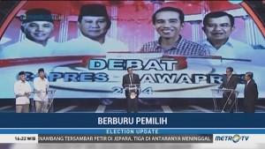 Berburu Pemilih Saat Debat Perdana Pilpres