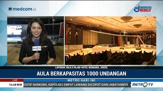 Persiapan Lokasi Debat Perdana Pilpres 2019